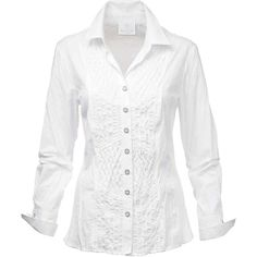 Search blouse | MADELEINE Fashion ($13) ❤ liked on Polyvore featuring tops, blouses, white top and white blouse