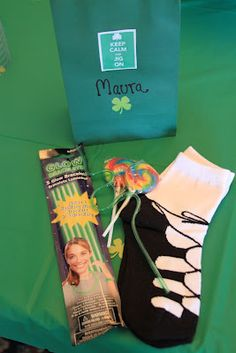 Irish Dance Favor Bags, the ghillie socks I think are so cute