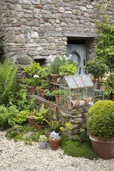 Courtyard garden boasts stone walls, scented plants and potted evergreens. Once a faded lawn, this small courtyard garden is now a blissful outdoor sitting room. garden design layout Take a tour of this small but blissful courtyard garden