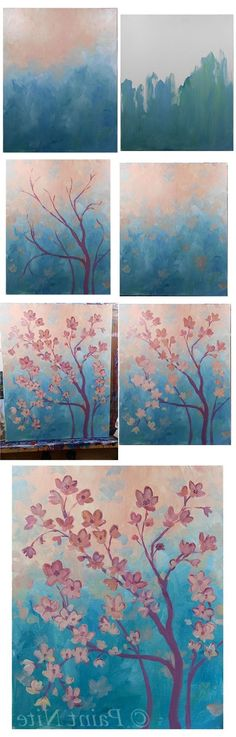 Acrylic Painting Tutorials, Painting Techniques, Diy Painting, Painting & Drawing, Painting Flowers, Peace Painting, Brush Drawing, Step By Step Painting, Beginner Painting