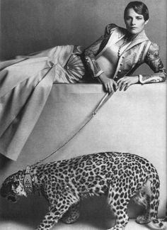 Charlotte Rampling wearing Bill Gibb for British Vogue, 1971.