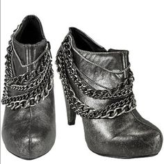 BKE ankle boots  Very cute chain heel ankle boots little bit of wear on bottoms but other then that no flaws ! BKE Shoes Heeled Boots