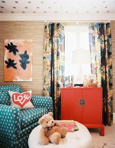 Lonny Magazine May 2012 | Photography by Patrick Cline; Interior Design by Jamie Meares...gold on the ceiling
