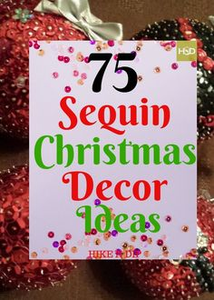 75 Homemade Sequin Christmas Decorations which are Blingy & Bright - Hike n Dip Beaded Christmas Decorations, Glass Christmas Tree Ornaments, Button Ornaments Diy, Beaded Ornaments, Homemade Christmas, Christmas Crafts, Dip, Diy Glue, Decoration Crafts