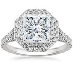STUNNING!!  Modern with a vintage feel. 18K White Gold Roslin Diamond Ring (3/4 ct. tw.) from Brilliant Earth