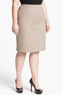 Tahari Woman Zander Pencil Skirt (Plus) available at Nordstrom
