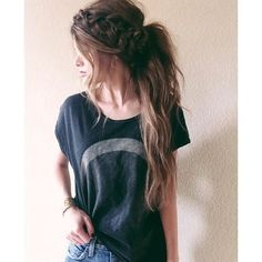 10 Lovely Ponytail Hair Ideas for Long Hair, Easy Doing Within 5... ❤ liked on Polyvore featuring beauty products, haircare, hair styling tools, hair, cabelos, hairstyles, hair styles and beauty