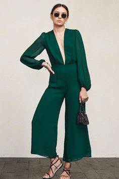 Gorgeous emerald green prom jumpsuit under $250!