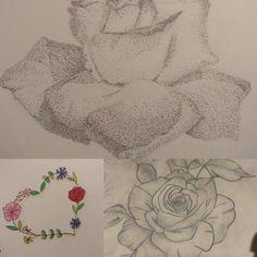 #flowers, #sketchbook, #drawing, #rose, #tattoo, #rysunek 30 Day Drawing Challenge, Tattoos, Rose, Drawings, Flowers, Tatuajes, Pink, Tattoo, Sketches