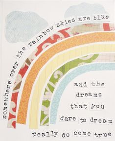 Somewhere over the rainbow...  Inspirational Art Dreams Somewhere Over the by artbyerinleigh, $18.00