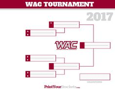 WAC - Western Athletic Conference Tournament Bracket 2017