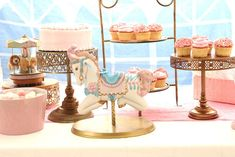 Pastel Carousel Circus Baby Shower Party Ideas | Photo 11 of 19