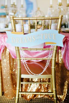 """""""A Dream Come True"""" Glamorous Cinderella Birthday Party // Hostess with the Mostess®"""