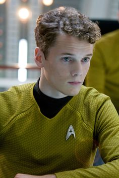 chekov. I never liked star trek and saw the movies with my boyfriend, and I thought he was the cutest in the movie