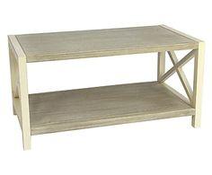 Tavolino in paulownia con ripiano Melody - 90x50x45 cm