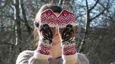 Ravelry: Bullfinch Mittens pattern by Natalia Moreva Mittens Pattern, Knit Mittens, Mitten Gloves, Bird Patterns, Knitting Patterns, Bullfinch, Bird Wings, Sport Weight Yarn, Sock Yarn