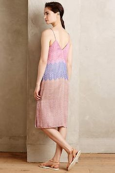 ANTHROPOLOGIE NEW $168 Chevron Sands Slip Dress Nomad Morgan Carper Purple NWT #Anthropologie #SlipDress #Casual