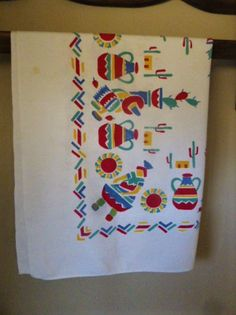 Vintage Southwest Mexican Themed Table Top Or Tablecloth By AZCindy On Etsy