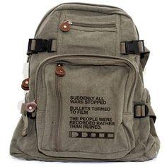 Backpack Film v. Bullet, Canvas Backpack, Rucksack, Travel Backpack, Camera Bag, Small Bag, Weekender Bag, Women's Backpack, Men's Backpack
