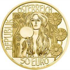 Moneda de oro 50 Euros Austria 2014 Klimt. La Verdad
