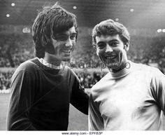 3rd September 1969. George Best with Middlesbrough winger Eric McMordie before the League Cup Second Round tie.