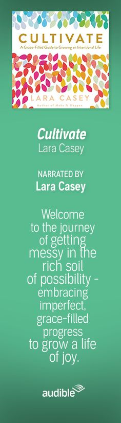 'Cultivate' written and narrated by Lara Casey is a mental health-related audiobook that offers wisdom and advice for overwhelmed women who feel they have it all together. Listeners will be able to find balance in their lives and communities in which they are planted.