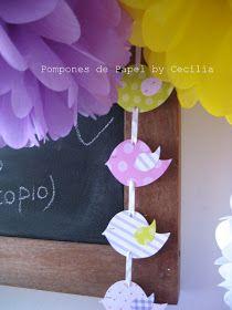 Pompones de Papel: :: Colores y Pajaritos ::