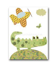 Printable Art Crocodile Nursery Plane Nursery by nataeradownload