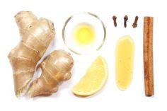 Detox ginger tea recipe: Fresh Ginger Root, Cinnamon Sticks Whole Cloves, Cayenne Extract Fresh Lemon & Honey