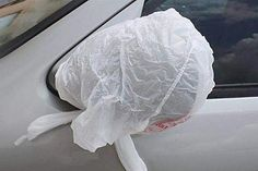 [Pics] Always Place A Ziplock Bag On Your Car Mirror When Traveling Alone, Here's Why Glow Stick Crafts, Flat Tummy Water, Pallet, Small Flower Gardens, Closet Door Makeover, Closet Doors, Patio Privacy, Backyard Retreat, Gardening Gloves
