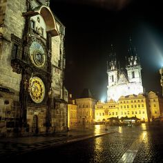 Prague Old Town Square--One of my film teammates is from Prague, and she has promised to show me this area.