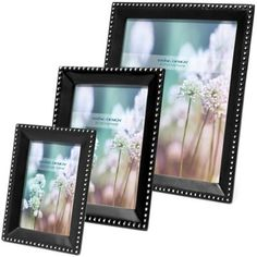 Swing Design™ Bead Frame in Black - BedBathandBeyond.com 4 x 6 horizontal