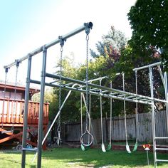 Charmant Component Playgrounds Abby Metal Swing Set   SS36 10