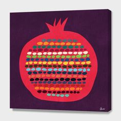 """""""Pomegranate"""", Numbered Edition Canvas Print by Budi Satria Kwan - From $69.00 - Curioos"""