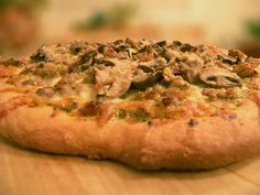 Fabulous looking gluten and dairy free crispy pizza crust