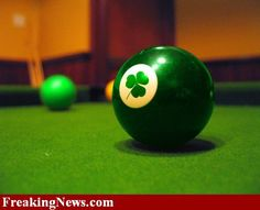 Shamrock billards ball