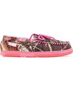 M&F Western Mossy Oak Moccasin Slippers Women's Slippers, http://www.amazon.com/dp/B00DYGURZA/ref=cm_sw_r_pi_awdm_OilMub04SBRGF