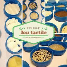 Fabriquer votre propre jeu tactile tout en recup, pour une activité Montessori, pour jouer en famille ou pour un stand de Kermesse!