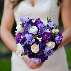 A gorgeous classy San Diego purple & black real wedding!