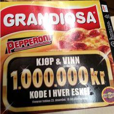 Grandiosa Pizza Markedsføring Og Deres Million Konkurranse