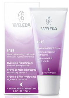 Weleda Iris Hydrating Night Cream - balances and replenishes  #crueltyfree #noanimaltesting #skincare
