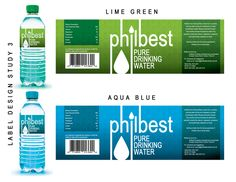 Philbest Pure Water Bottle Label Design on Behance Water Bottle Storage, Water Bottle Design, Water Bottle Labels, Food Packaging Design, Packaging Design Inspiration, Water For Health, Water Packaging, Agua Mineral, Drink Labels