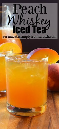 Peach Whiskey Iced Tea the perfect cool down at the end of a hot day! {wineglasswriter.com}