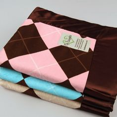 Argyle Velour Blanket (Sizes available up to King)  You just have to love a blanket in classic argyle print.  Nice!
