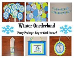 First Birthday. Winter Onederland Choose Boy or Girl / Discount Given Girl First Birthday, Birthday Fun, 1st Birthday Parties, Birthday Ideas, Winter Wonderland Party, Winter Onederland, Penguin Party, Party Package, Girl Themes