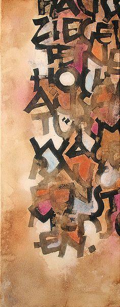 ✍ Sensual Calligraphy Scripts ✍ initials, typography styles and calligraphic art - La ciudad de Rudolf Koch by betina naab, via Flickr