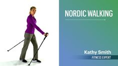 Intro to Nordic Walking With Fitness Expert Kathy Smith Calorie Burning Workouts, Walking For Health, Walking Poles, Power Walking, Fitness Expert, Health Fitness, Nordic Walking, Improve Posture, Pre And Post