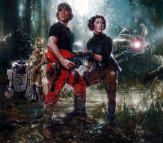"""Luke and Leia on Mimban.  You younger folks can't appreciate how important """"Splinter of the Mind's Eye"""" was to us first-generation fans.  For years, it was the only Star Wars """"expanded universe"""" item in existence."""