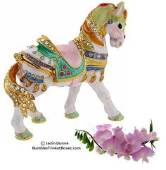 White Carousel Horse 3
