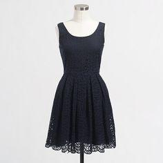 j crew navy lace dress - Google Search